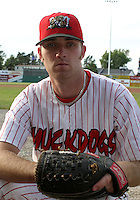 July 17, 2003:  pitcher Brad Overton of the Batavia Muckdogs during a game at Dwyer Stadium in Batavia, New York.  Photo by:  Mike Janes/Four Seam Images