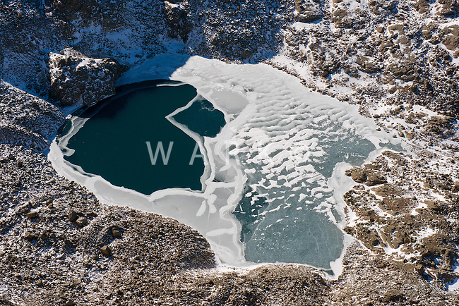 Rocky Mountains, Collegiate Range in Colorado.  Little frozen lake.  Nov 2012