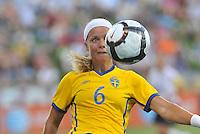 Sara Thunebro...USWNT tied Sweden 1-1 at Morrison Stadium, Omaha Nebraska.