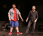 "Nick Kohn and Jason Jacoby during ""Avenue Q"" Celebrates World Puppetry Day at The New World Stages on 3/21/2019 in New York City."