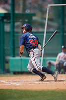 Atlanta Braves Ramon Osuna (58) during a minor league Spring Training game against the Detroit Tigers on March 25, 2017 at ESPN Wide World of Sports Complex in Orlando, Florida.  (Mike Janes/Four Seam Images)