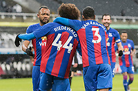 2nd February 2021; St James Park, Newcastle, Tyne and Wear, England; English Premier League Football, Newcastle United versus Crystal Palace; Jairo Riedewald of Crystal Palace celebrates scoring Crystal Palace 1st goal for 1-1 in the 21st minute with team mates