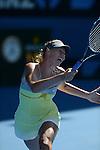 Maria Sharapova (RUS) wins at Australian Open in Melbourne Australia on 20th January 2013