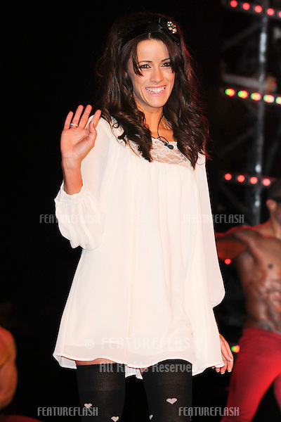 Nicola T enters the 2010 Celebrity Big Brother house, Elstree, London. 03/01/2010  Picture by: Steve Vas / Featureflash