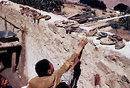 Mascara Area, Algeria, Summer 1961. Typical French Fort for a small harka unit. A school was builted for the village children and they were trained to leave their shoes out.