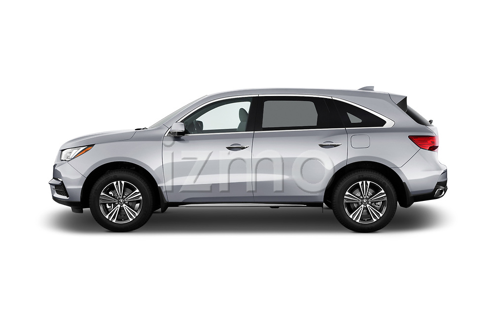 Car driver side profile view of a 2020 Acura MDX Standard 5 Door SUV