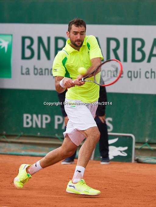 France, Paris, 28.05.2014. Tennis, French Open, Roland Garros, Marin Cilic (CRO)<br /> Photo:Tennisimages/Henk Koster