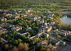 Campus Aerial with tilt-shift lens..Photo by Matt Cashore