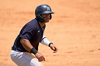 FCL Yankees Jasson Dominguez (25) leads off third base during a game against the FCL Tigers on June 28, 2021 at Tigertown in Lakeland, Florida.  (Mike Janes/Four Seam Images)