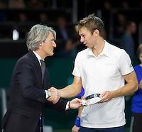 Februari 15, 2015, Netherlands, Rotterdam, Ahoy, ABN AMRO World Tennis Tournament, John Peers (AUS)<br /> Photo: Tennisimages/Henk Koster