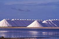 salt drying, Bonaire, Netherland Antilles, Caribbean Sea, Atlantic Ocean