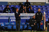 16th September 2020; Portman Road, Ipswich, Suffolk, England, English Football League Cup, Carabao Cup, Ipswich Town versus Fulham; Fulham Manager Scott Parker gives out instructions