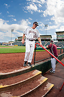Coach Brent Thomas (20) of the Missouri State Bears during a game vs. the Western Illinois Leathernecks at Hammons Field in Springfield, Missouri;  March 20, 2011.  Photo By David Welker/Four Seam Images