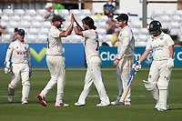 Shane Snater of Essex celebrates with his team mates after taking the wicket of Steven Mullaney during Essex CCC vs Nottinghamshire CCC, LV Insurance County Championship Group 1 Cricket at The Cloudfm County Ground on 3rd June 2021