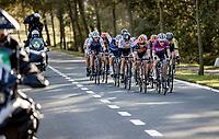 Lizzie Deignan (GBR/Trek-Segafredo) leading the front group<br /> <br /> 9th Gent-Wevelgem in Flanders Fields 2020<br /> Elite Womens Race (1.WWT)<br /> <br /> One Day Race from Ypres (Ieper) to Wevelgem 141km<br /> <br /> ©kramon