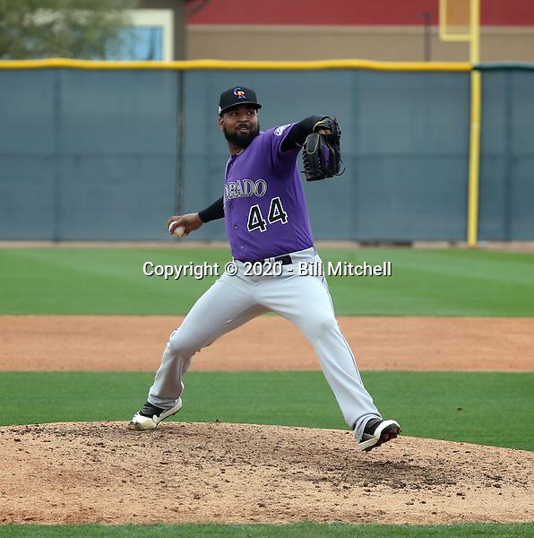 Nelson Gonzalez - Colorado Rockies 2020 spring training (Bill Mitchell)