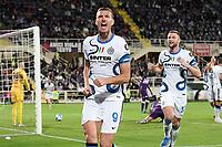 21nd September 2021; Artemio Franchi Stadium, Florence, Italy; Serie A championship football, AC Fiorentina versus Inter MIlan; Edin Dzeko of FC Internazionale celebrates after scoring the goal for 1-2