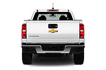 Straight rear view of 2017 Chevrolet Colorado 2WD wt Extended Cab 3 Door Pick-up Rear View  stock images