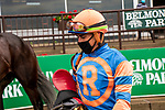 JUNE 03, 2020 : Prisoner with Irad Ortiz Jr. aboard, wins $64,000 Maiden Special Weight, fortwo year ols going 5 furlongs, at Belmont Park, Elmont, NY.  Sue Kawczynski/Eclipse Sportswire/CSM