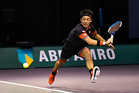 Rotterdam, The Netherlands, 2 march  2021, ABNAMRO World Tennis Tournament, Ahoy, First round doubles: Kei Nishikori (JPN).<br /> Photo: www.tennisimages.com/henkkoster