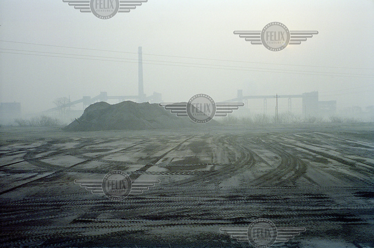 A tar refinery plant in Linfen, one of the most polluted cities in China. Supplying a large part of the nation's energy, Shanxi is considered to be the centre of China's expanding coal industry. The huge demand for coal has led to the development of hundreds of often illegal and unregulated coal mines, excessive air pollution and many other environmental problems.