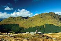 Beinn an Lochain and Gleann Mor from Ben Donich, the Arrochar Alps, Loch Lomond and the Trossachs National Park, Argyll & Bute