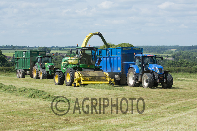 Contractors take the first cut of silage for a suckler cow herd <br /> Picture Tim Scrivener 07850 303986<br /> ….covering agriculture in the UK….