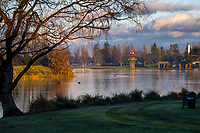 Henley Lake in Masterton, New Zealand on Tuesday, 4 August 2020. Photo: Dave Lintott / lintottphoto.co.nz