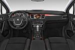 Stock photo of straight dashboard view of a 2015 Peugeot 508 RXH 5 Door Wagon 2WD Dashboard