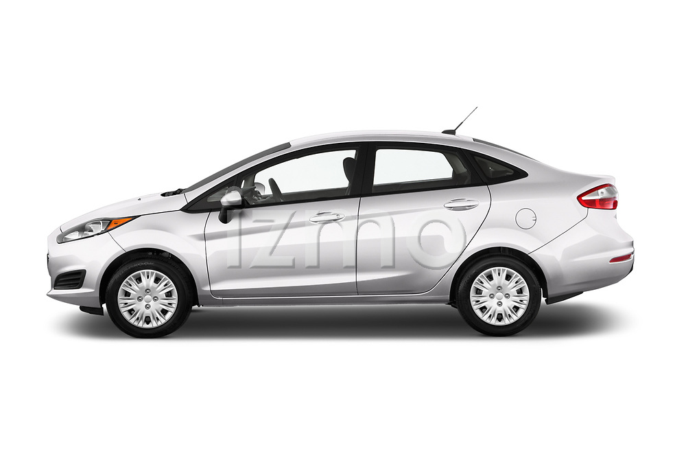 Car Driver side profile view of a 2017 Ford Fiesta SE 4 Door Sedan Side View