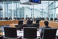 """Letzte Sitzung des Untersuchungsausschusses """"PKW-Maut"""" des Deutschen Bundestag am Donnerstag den 28. Februar 2021.<br /> Als einziger Zeuge war erneut Bundesverkehrsminister Andreas Scheuer, CSU, vorgeladen.<br /> Der Ausschuss wurde zur Aufklaerung der Mautvertraege zwischen dem Verkehrsministerium unter Leitung von Andreas Scheuer und den Firmen Kapsch und CTS Eventim eingerichtet.<br /> Der Maut-Untersuchungsausschuss soll das Verhalten der Regierung und besonders des Verkehrsministers bei der Vorbereitung und der Vergabe der Betreibervertraege """"umfassend aufklaeren"""".<br /> Verkehrsminister Scheuer betonte vor der Sitzung wiederholt, dass alles mit rechten Dingen zugegangen sei.<br /> Im Bild: Verkehrsminister Scheuer vor seiner Vernehmung.<br /> 28.1.2021, Berlin<br /> Copyright: Christian-Ditsch.de"""
