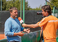 Moscow, Russia, 16 th July, 2016, Tennis, Ivgeny Kafelnikov (RUS) is interview by Jan Willem de Lange<br /> Photo: Henk Koster/tennisimages.com