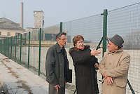 - Henri Desgrange, employee of Eternit France, with Anna Maria Giovanola and Piero Ferraris, workers of plant in Casale Monferrato, poisoned by asbestos, on the former site of the factory now dimantled<br /> <br /> - Henri Desgrange, dipendente dell'Eternit Francia, con Anna Maria Giovanola e Piero Ferraris, lavoratori dello stabilimento di Casale Monferrato, intossicati dall'amianto, sul luogo dove sorgeva lo stabilimento, oggi smantellato