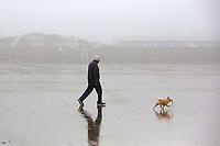 2017 03 13 Foggy weather, Aberavon beach, Wales, UK