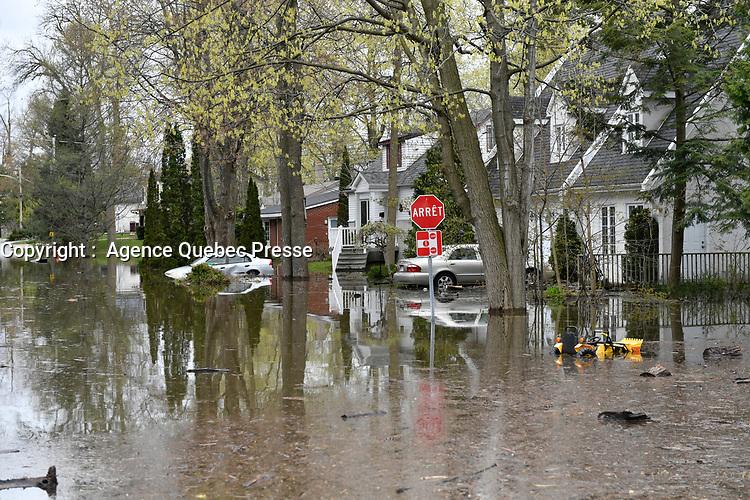 Innondations en banlieue de Montreal,  mai 2017