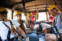 Family heading to go Ziplining on the Big island with Kohala zipline