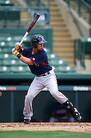 GCL Red Sox third baseman Stanley Espinal (15) at bat during a game against the GCL Orioles on August 16, 2016 at the Ed Smith Stadium in Sarasota, Florida.  GCL Red Sox defeated GCL Orioles 2-0.  (Mike Janes/Four Seam Images)