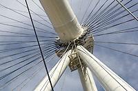 Las Vegas, Nevada.  Center Hub of the   High Roller, World's Tallest Observation Wheel as of 2015.