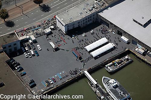 aerial photograph pier San Francisco, California