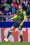 Cristiano Piccini of Sporting CP in action during the UEFA Europa League quarter final leg one match between Atletico Madrid and Sporting CP at Wanda Metropolitano on April 5, 2018 in Madrid, Spain. Photo by Diego Souto / Power Sport Images