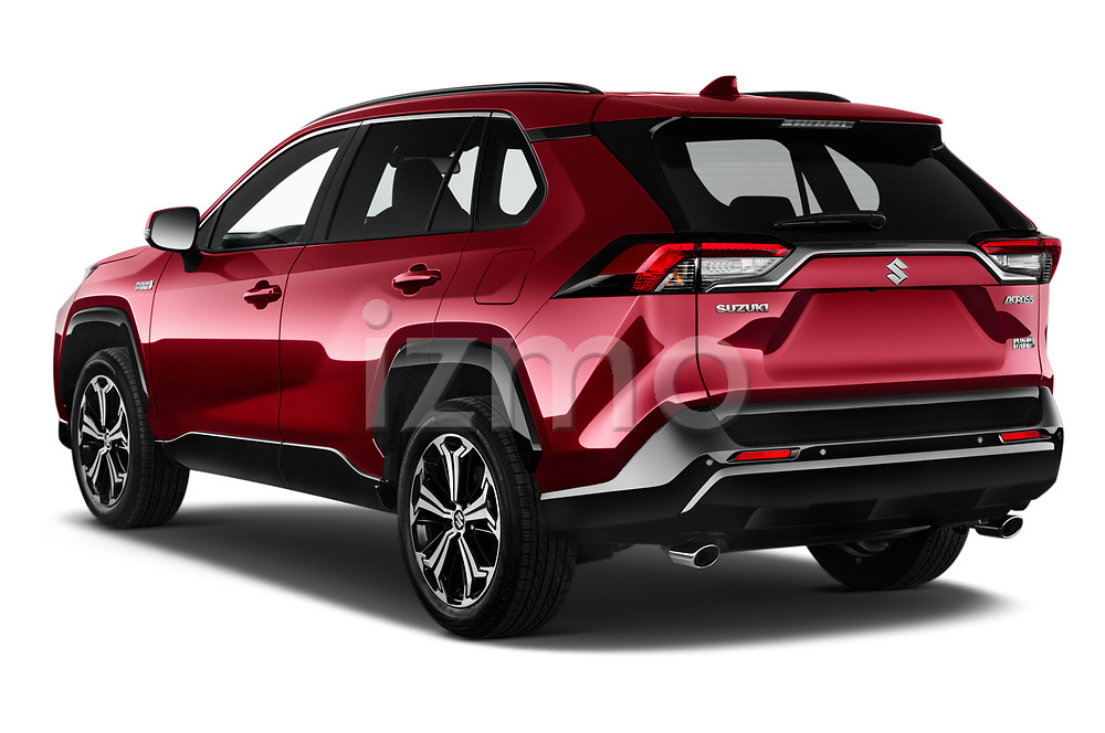 Car pictures of rear three quarter view of 2021 Suzuki Across GLX 5 Door SUV Angular Rear
