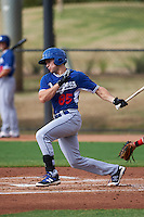 Los Angeles Dodgers Jordan Tarsovich (85) during an instructional league game against the Cincinnati Reds on October 20, 2015 at Cameblack Ranch in Glendale, Arizona.  (Mike Janes/Four Seam Images)