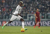 Juventus' Paul Pogba in action during the Italian Serie A football match between Juventus and Roma at Juventus Stadium.