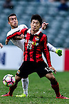 zFC Seoul Midfielder Go Yo Han (r) is chased by Auckland City Midfielder Clayton Lewis (l) during the 2017 Lunar New Year Cup match between Auckland City FC (NZL) vs FC Seoul (KOR) on January 28, 2017 in Hong Kong, Hong Kong. Photo by Marcio Rodrigo Machado/Power Sport Images