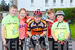 Michael, Hannah, Johnny, Catherine and Ruairi Murphy Scartaglen at the Castleisland Day Care centre cycle on Sunday