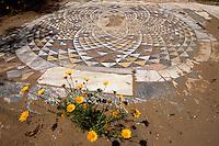 Zypern (Nord), Basilika von Kampanopetra in Salamis, 4.Jh., Mosaik