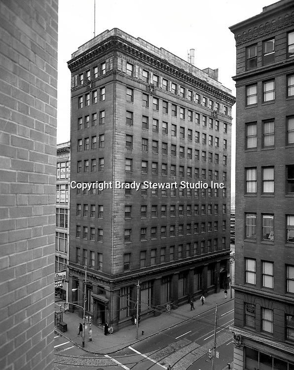 Pittsburgh PA:  View of the Victory Building from a building across Liberty Avenue.