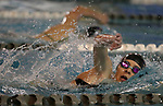 Katie Battagliese from Hillsborough High School competes in the 400 meter freestyle as Hillsborough takes on Montgomery at the Somerset County YMCA in Bridgewater on Tuesday December 12, 2017.<br /> (Mark R. Sullivan | For NJ Advance Media)