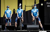 Team Movistar pre Tour teams presentation of the 108th Tour de France 2021 in Brest at Le Grand Départ <br /> <br /> ©kramon