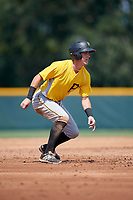 Pittsburgh Pirates Kyle Watson (25) leads off second base during an Instructional League intrasquad black and gold game on September 28, 2017 at Pirate City in Bradenton, Florida.  (Mike Janes/Four Seam Images)